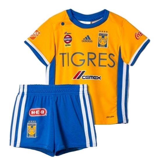 Conjunto Playera Con Short Tigres 16/17 Bebe adidas Ap7512