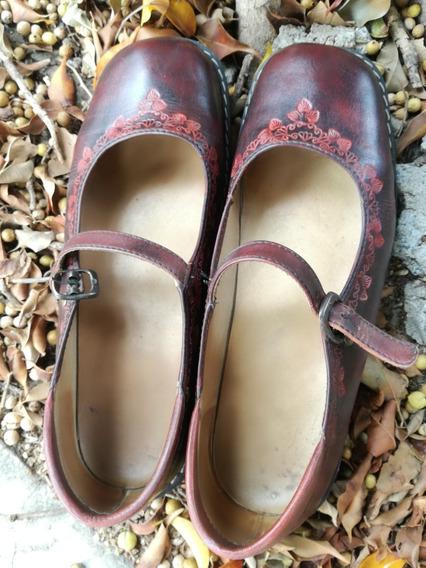 Zapatos De Cuero Confección Artesanal