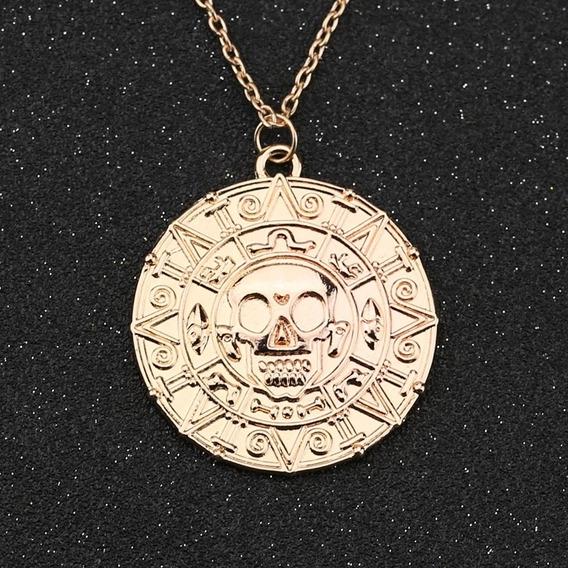 Collar Unisex Oro Azteca Regalo Familia Amigos Paq. 10 Pzas