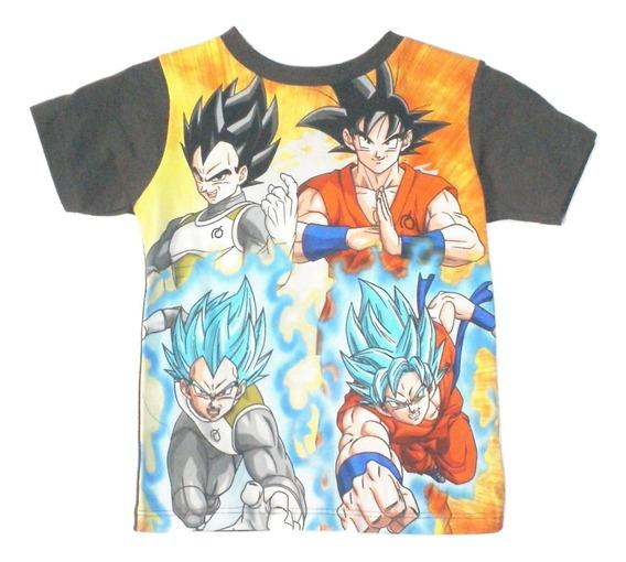 Camiseta Playera Niño(a) Kakaroto Ssj Bebe Dragon Ball Goku Original Manga Corta Talla 4 Años Liquidacion $259a