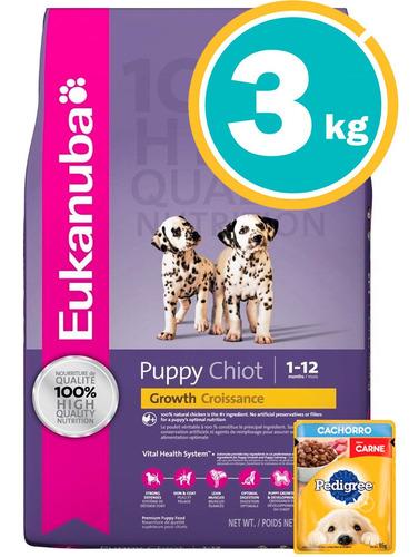 Imagen 1 de 7 de Ración Perro Eukanuba Cachorro Raza Med + Obseq Y E. Gratis