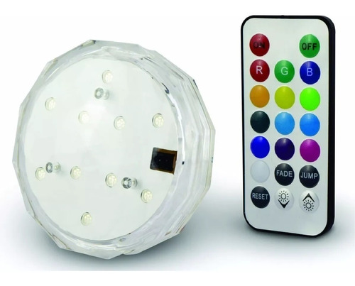 Pack X4 Luz Led Sumergible Rgb Jacuzzi Piscina Pileta Full