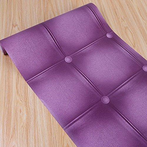 Simplelife4u Purple Grid Contact Paper Extraible Shelf Line