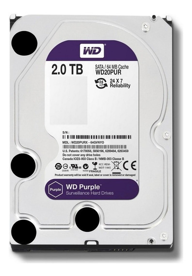 Hd Dvr Cftv 2tb Western Digital Purple Wd20purz
