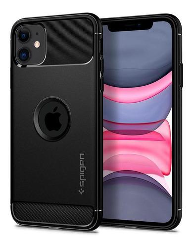 Capa Original Spigen iPhone 11 Rugged Armor Slim Black
