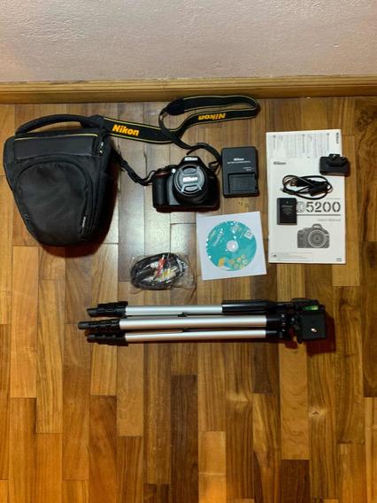 Camara Nikon D5200 + Lente Original 18-55 (610 Disparos)