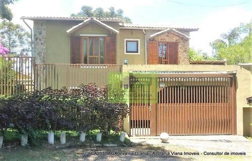 Imagem 1 de 30 de Casa Com 3 Dormitórios À Venda, 330 M² Por R$ 1.700.000,00 - Granja Viana - Carapicuíba/sp - Ca2037