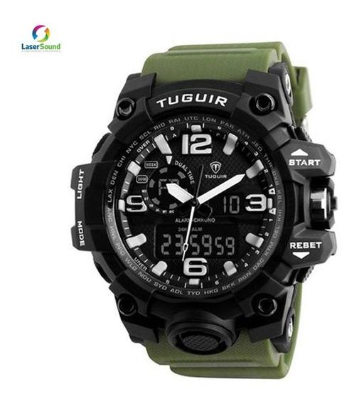 Relógio Tuguir Masculino Tg1155 Verde C/ Garantia E Nf