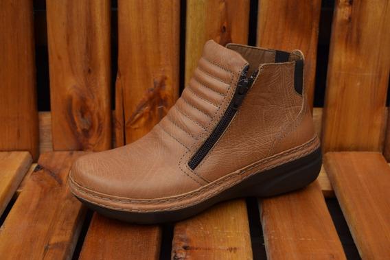 Botas De Cuero Mujer Zapatos De Cuero Botinetas Dama