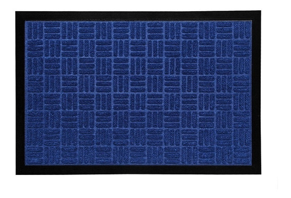 Tapete Capacho Waterkap Kapazi Azul Decoração Sala 60x40 Cm