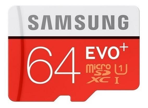 Cartão Samsung Micro Sdxc Evo+ 64gb Classe 10 80mb/s Sd U1