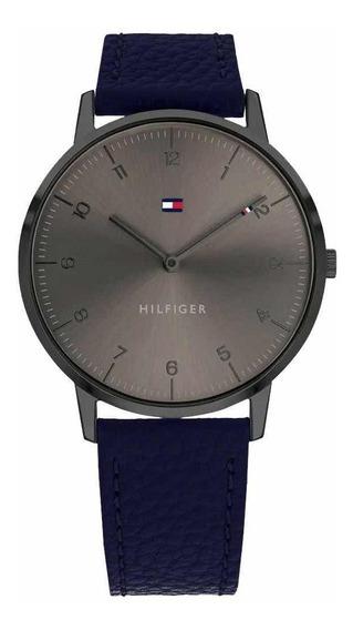 Relógio Tommy Hilfiger Masculino Couro Azul - 1791583