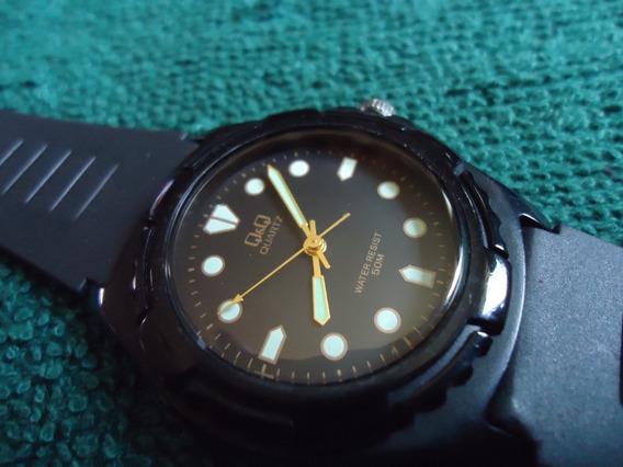 Q Q By Citizen Reloj Vintage Retro Negro
