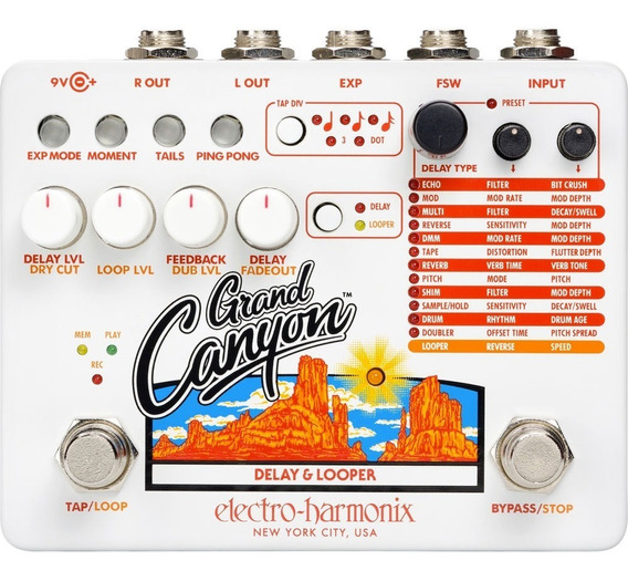 Pedal Electro Harmonix Grand Canyon Delay E Looper