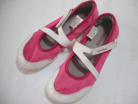 Sapatilha Rosa Pink Caminhada Oxylane Newfeel 34 35 Bom Esta