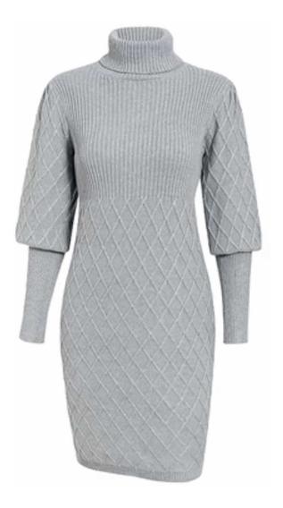 Vestido Suéter De Punto Invierno Elegante