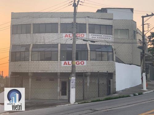 Salão Para Alugar, 222 M² Por R$ 6.000,00/mês - Jardim Cidade Pirituba - São Paulo/sp - Sl0171