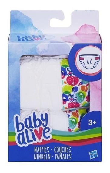 Pañales Para Baby Alive Paquete Con 6 Pañales Para Muñecas