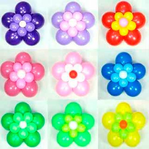 Flor Con Globos De 12 Pulgadas. Colores A Eleccion Globofun