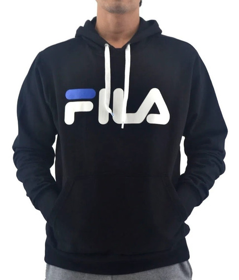 Fila Buzo C/capucha Lifestyle Hombre Up Masc Negro- Azul-bco