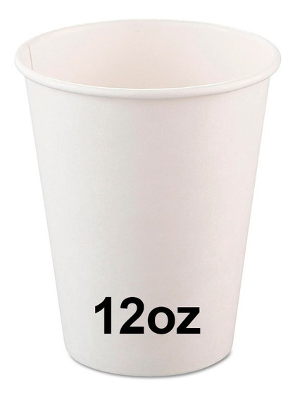 Vaso Descartable Polipapel Blanco 12oz (360cc) X 100