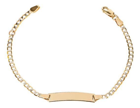Esclava Bizzarro De Oro Amarillo Con Diamantado Platinado De