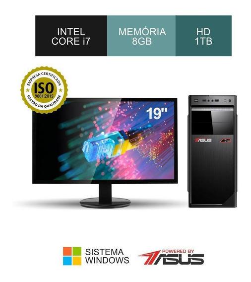 Cpu Asus I7 3.40ghz Ram 8gb Hd 1tb + Ssd480gb + Monitor 19