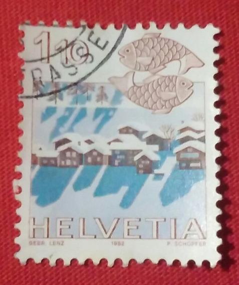 Estampilla Helvetia 110