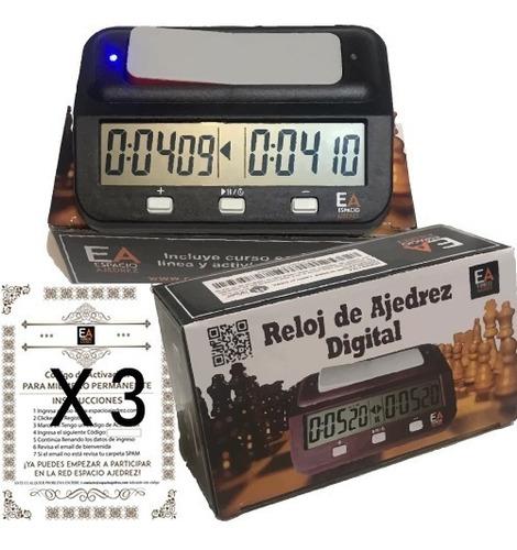 Reloj Digital De Ajedrez + ¡3 Membresías En Espacio Ajedrez!