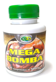 Mega Bomba Massa Muscular Natural 60 Cáp 500mg Frete Gratis