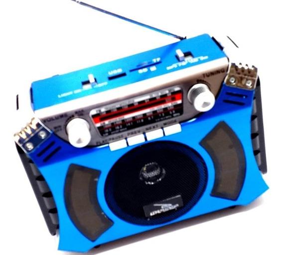Caixa De Som Grasep D-f6 Retrô Rádio Am/fm/sw Integrado
