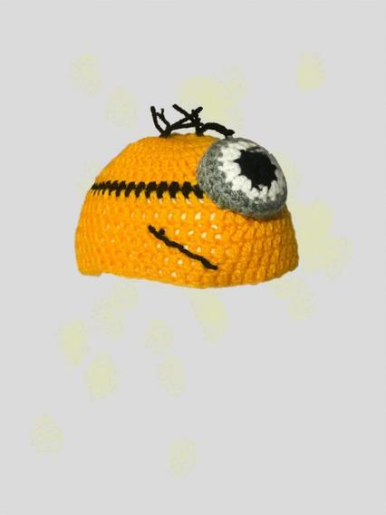 Gorro Minion En Crochet