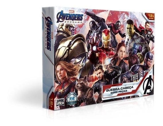 Quebra Cabeça 2000 Peças Os Vingadores - Toyster