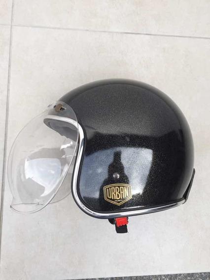 Capacete Urban Helmets Verde Old School 60