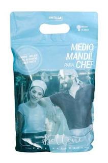 Medio Mandil Para Chef Bottone Color Blanco Unisex