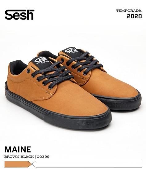 Zapatillas Urbanas Vestir Sesh Maine Brown Black. (nuevas!)