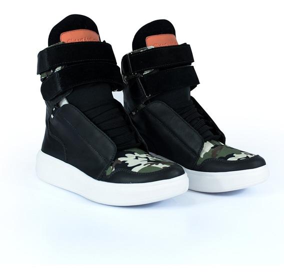 Bota Sneakers Cheia De Marra Treino Academia Couro Fitness