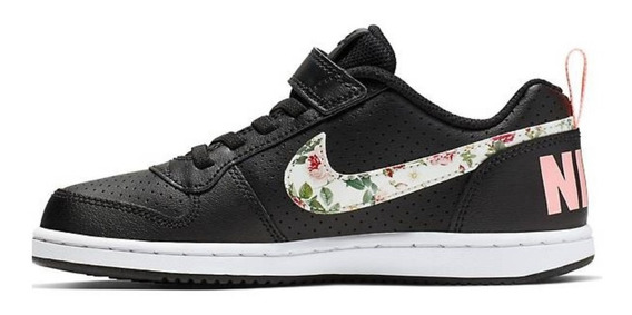 Zapatillas Nike Court Borough Low Vf (psv) Niñas Bq7032-001