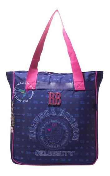 Tote Bag Laptop Rebecca Bonbon Estampada C/ Alça Neon