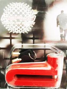 Trava De Disco Antifurto Hardy 10 Mm Vermelha