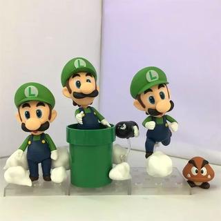 Luigi + Nendoroid + Lote De 3 Figuras + Envío Gratis