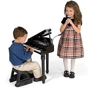 Piano Sinfonia Infantil Musical Com Gravador E Microfone