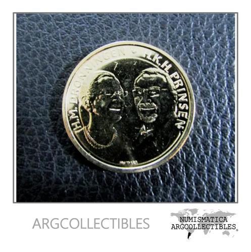 Dinamarca Moneda 20 Coronas 50 Aniv. De La Boda Real 2017