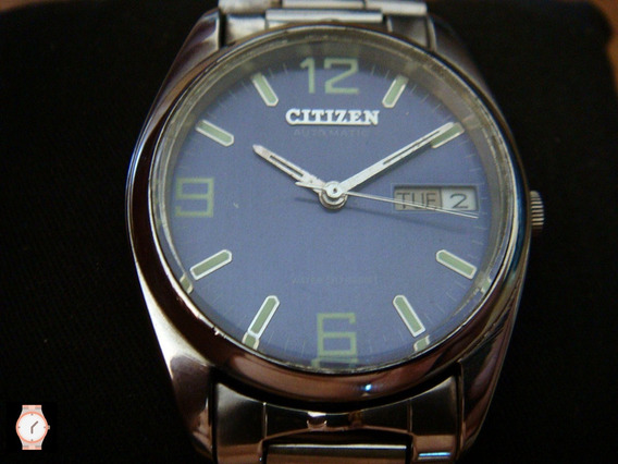 Impecable Reloj Citizen Automático Dial Azul