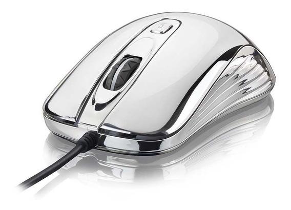 Mouse Gamer Warrior Prateado