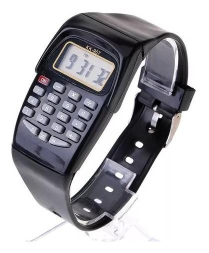 Relógio Calculadora Digital Unissex Presente Preto Cod.00166