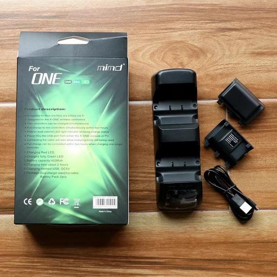 Carregador X Box One / Slim / X+2 Baterias Mimd Rio Cristal