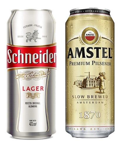 Imagen 1 de 10 de Pack Amstel Lager + Schneider X 12 Latas - Tomate Algo® -