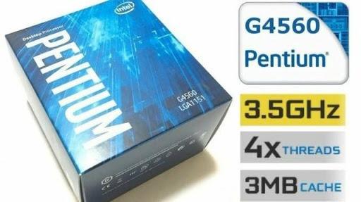 Pentium G4560 Kaby Lake, Cache 3mb, 3.5ghz, Lga 1151