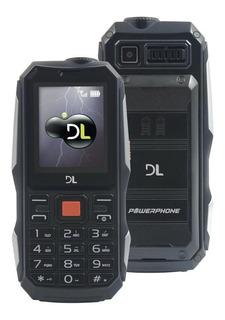 Celular Dl Dual Chip Função Power Bank Com Nf